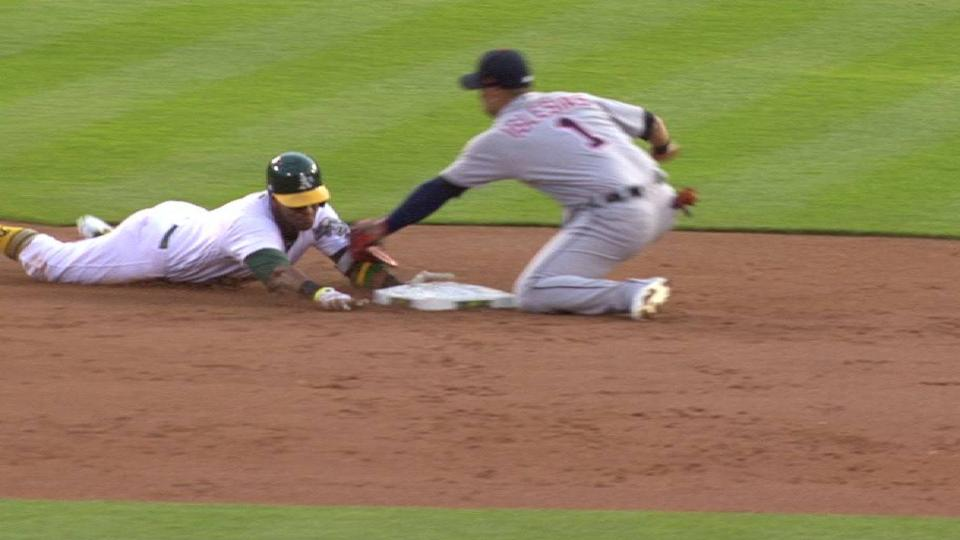 Davis ruled out at second base