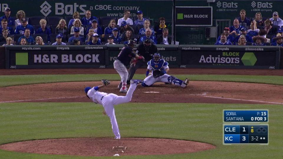 Soria strikes out the side