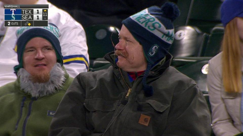A fan's slick mustache
