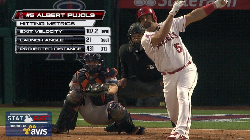 Statcast: Pujols' 595th homer