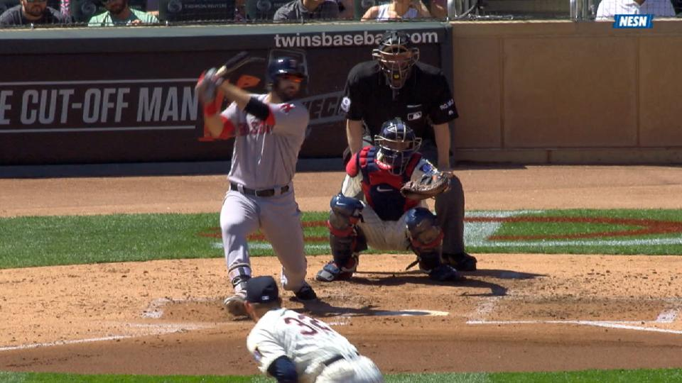 Moreland's RBI double to left