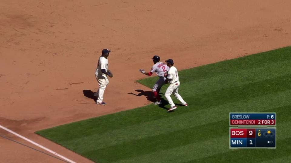 Twins get Bogaerts in rundown