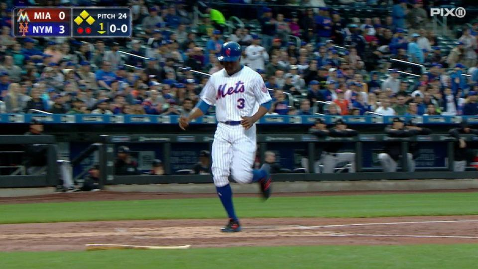 Plawecki's sac fly in the 1st