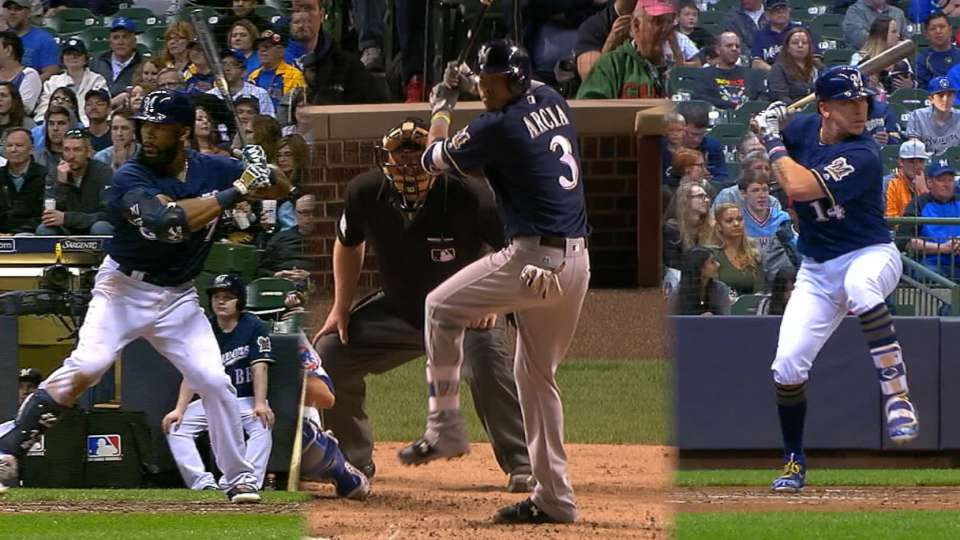 Brewers' 50 home runs in 2017