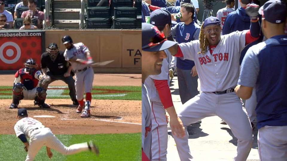 Young homers, Hanley celebrates
