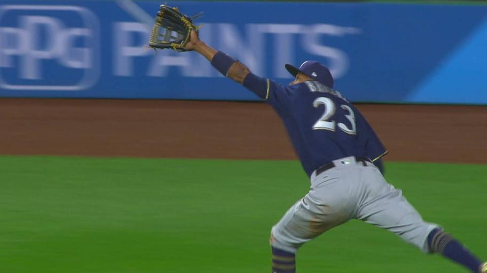 Broxton hustles for a nice catch