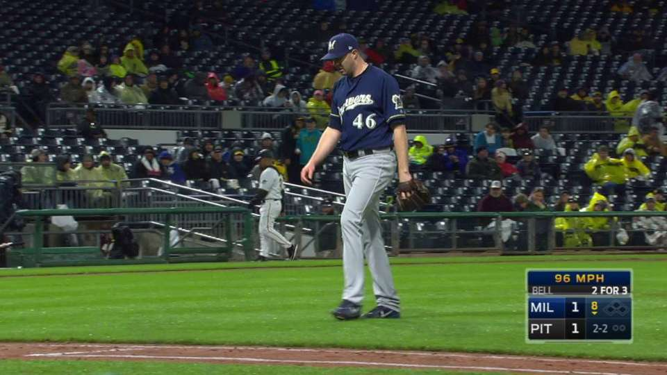 Knebel catches Bell looking
