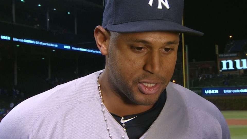 Hicks on big day against Cubs
