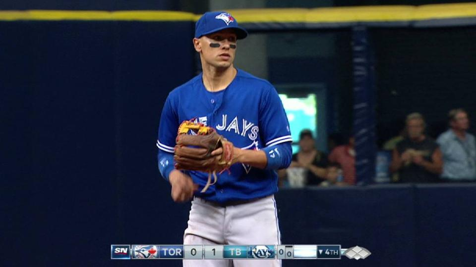 Goins' nifty stop up the middle