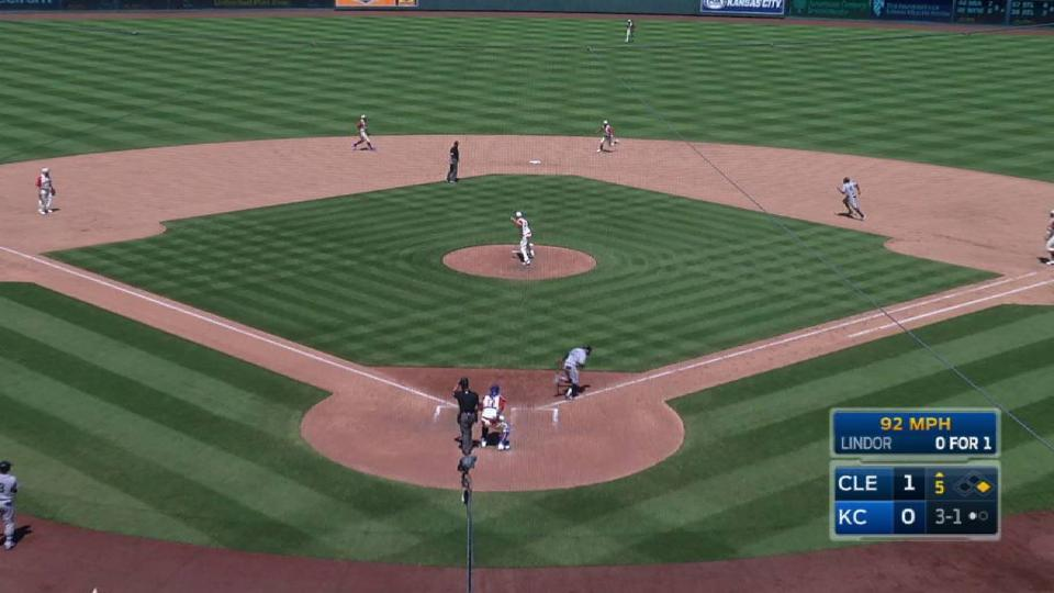 Duffy starts a 1-4-3 double play