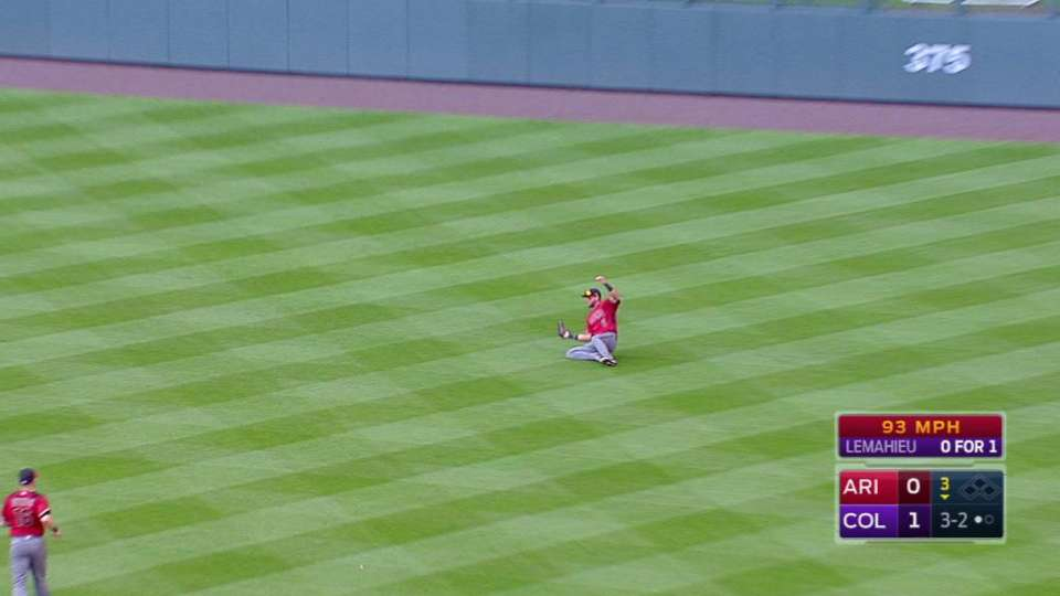 Peralta's sliding catch