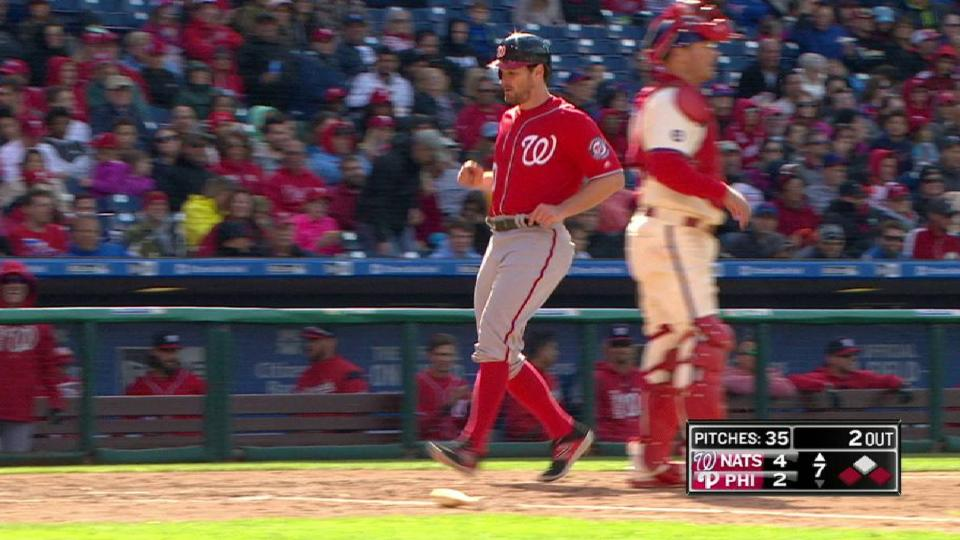 Lind's sac fly in the 7th inning