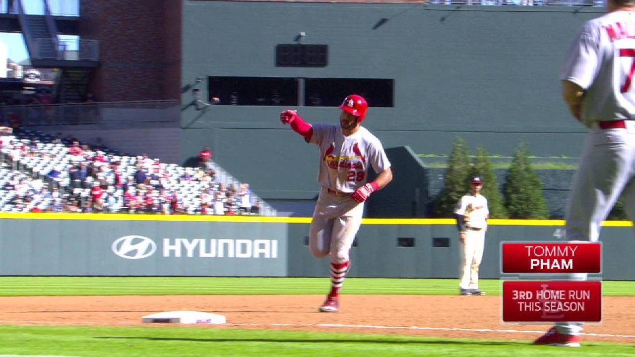 San Luis barre a Atlanta con jonrón de Tommy Pham en el 14to inning