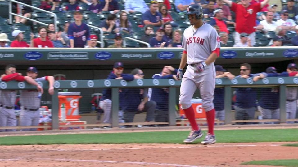 Moreland walks with bases loaded