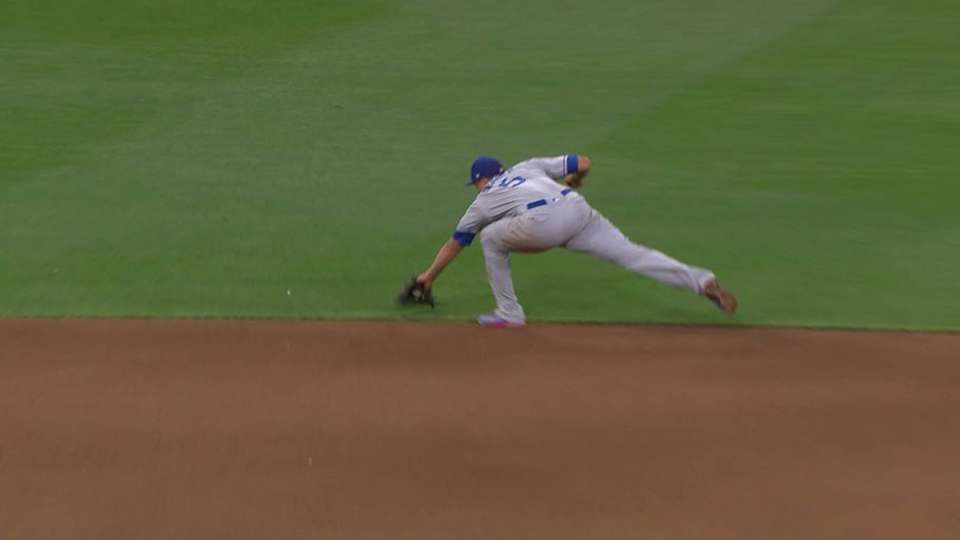 Seager's diving stop and throw