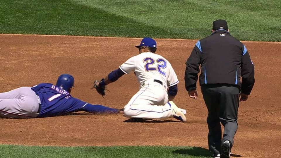 Overton's pickoff at second base
