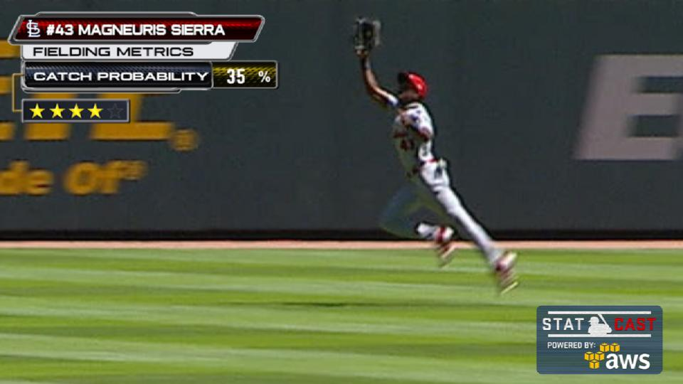 Statcast: Sierra's running catch