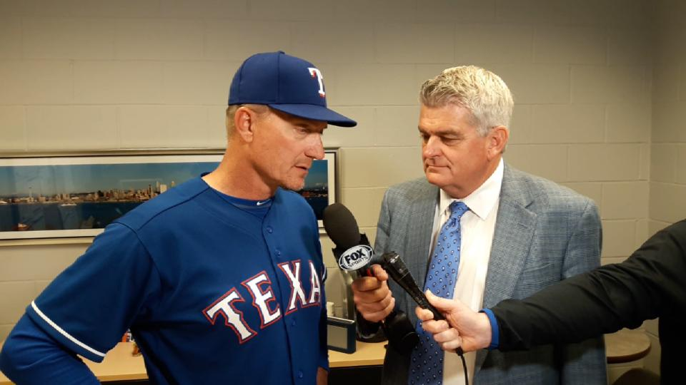 Banister on loss to Mariners