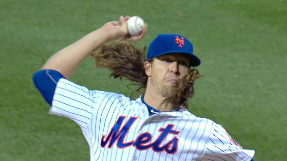 deGrom fans Pence to K the side