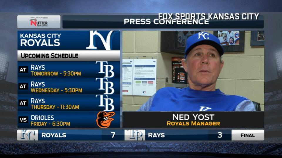 Yost on 7-3 win over the Rays