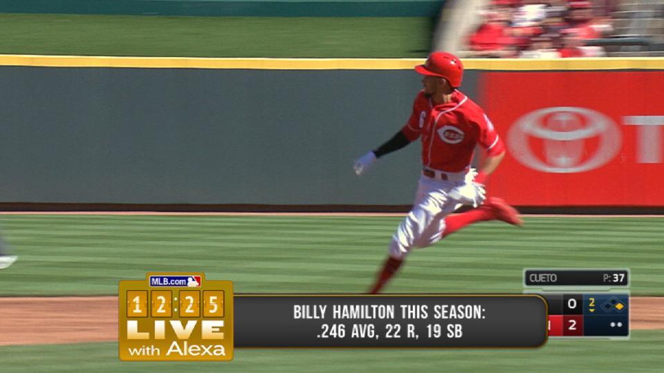 Hamilton improving on basepaths