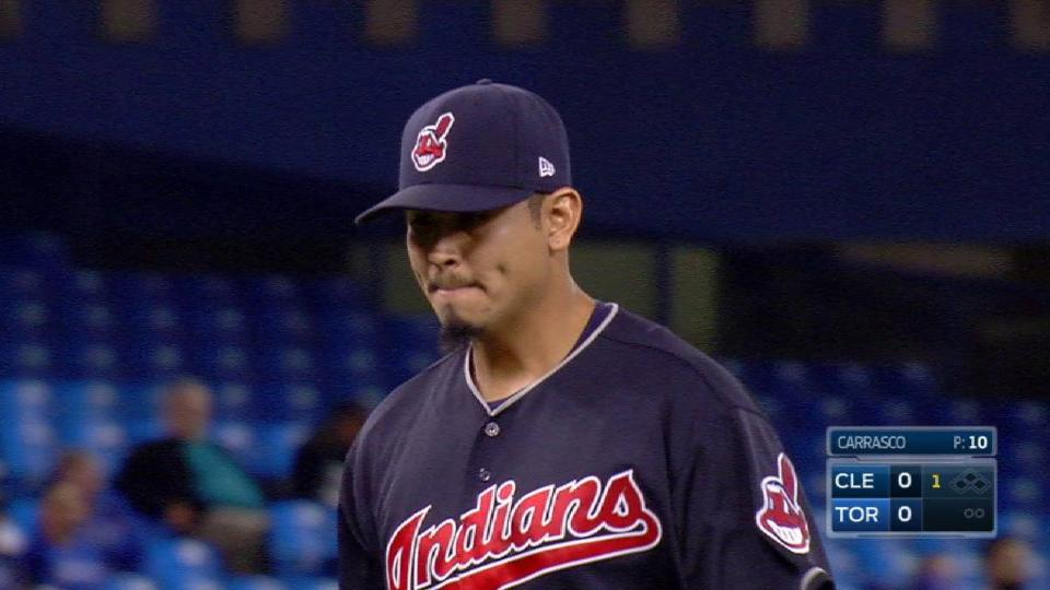Indians turn a 5-4-3 double play