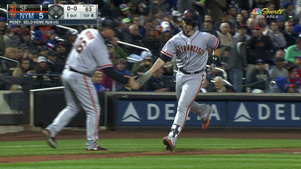 Posey's solo home run to left