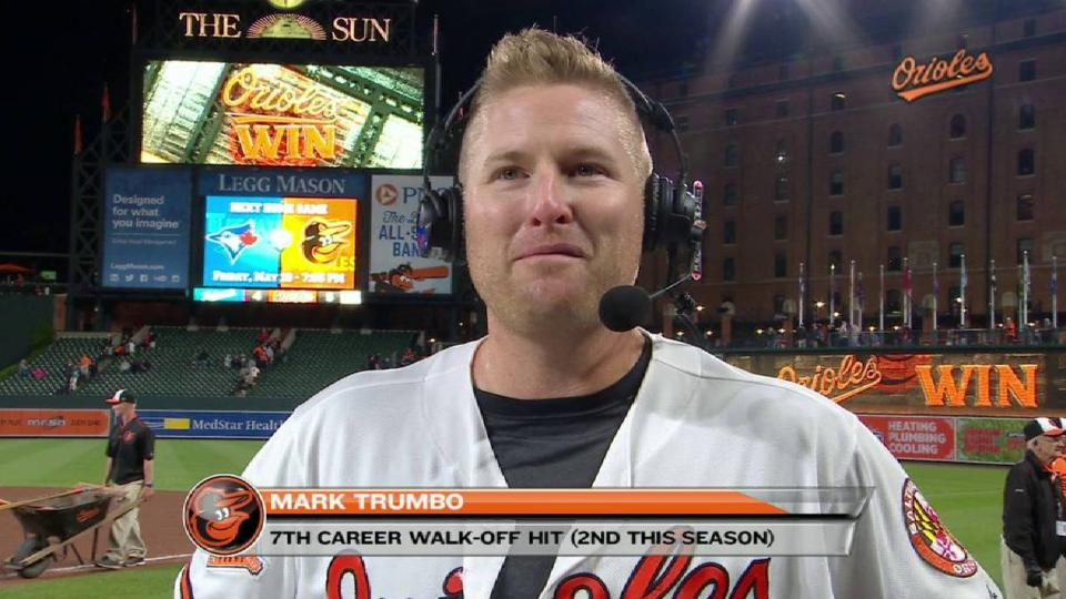 Trumbo on his walk-off hit