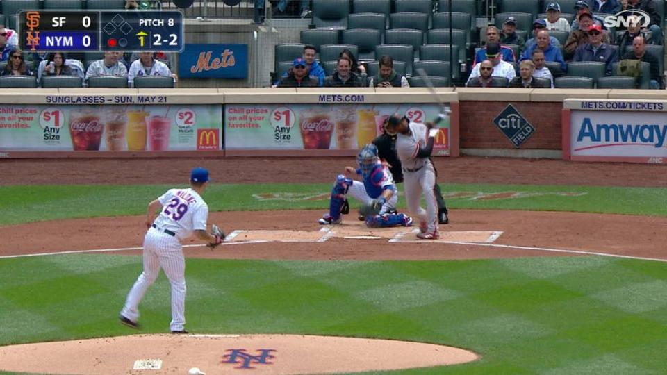 Milone's first K with the Mets