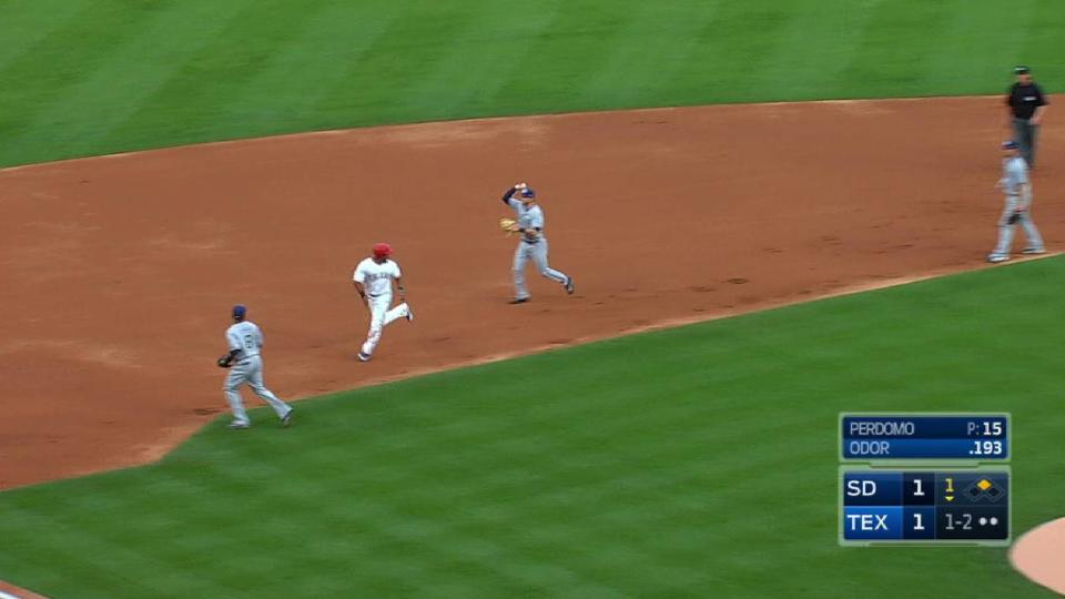 Perdomo nabs Andrus at second