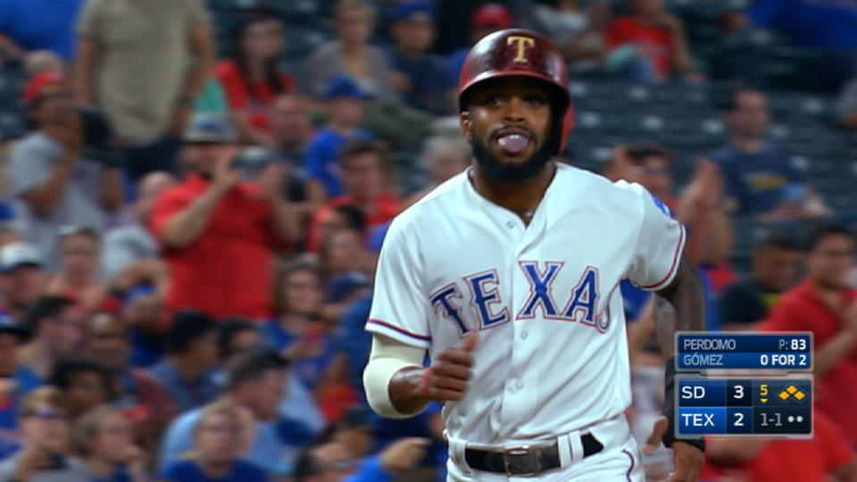 DeShields scores on balk, error