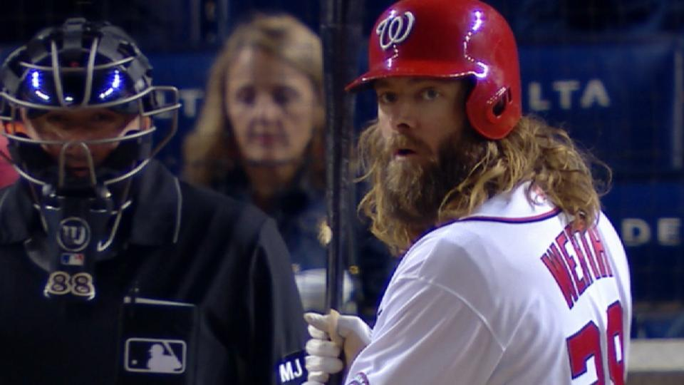 Werth homers after long at-bat