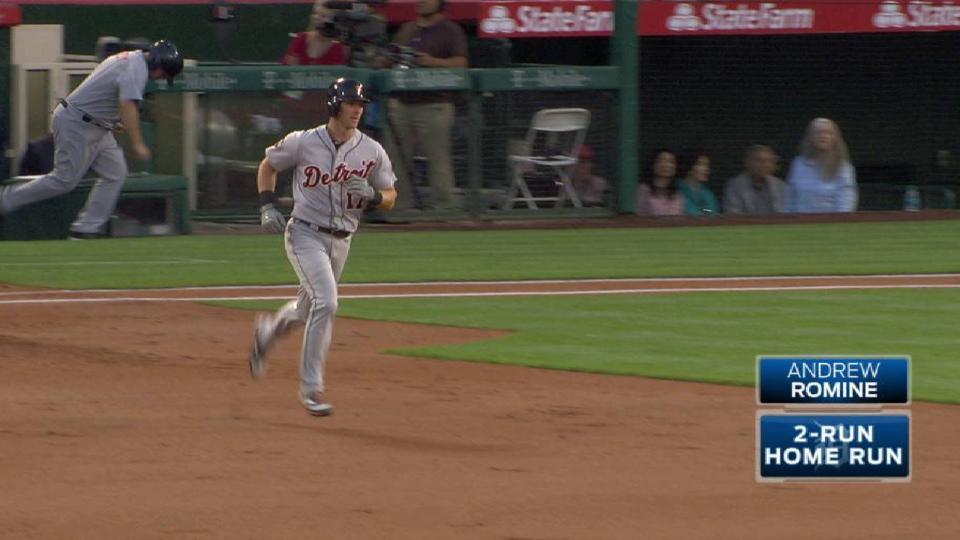 Romine's two-run home run