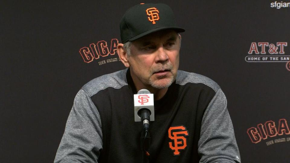 Bochy on 4-3 loss to Reds