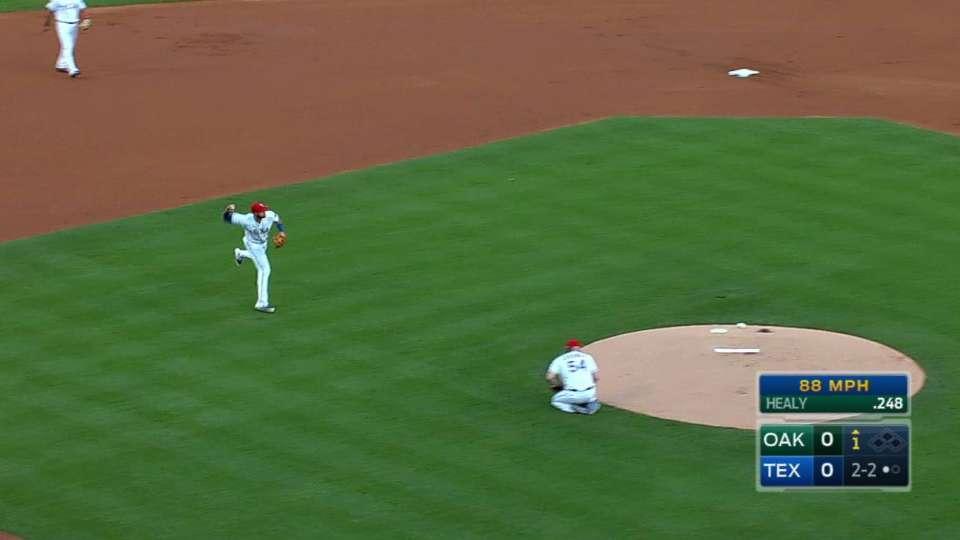 Gallo's smooth barehanded play