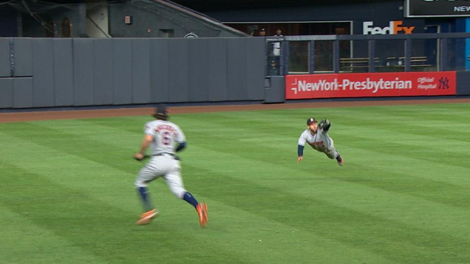 Springer's terrific diving catch