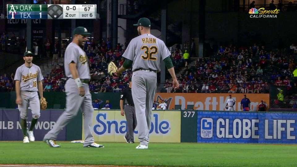 Hahn's kick save nabs Lucroy