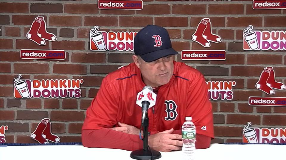 Farrell discusses third base