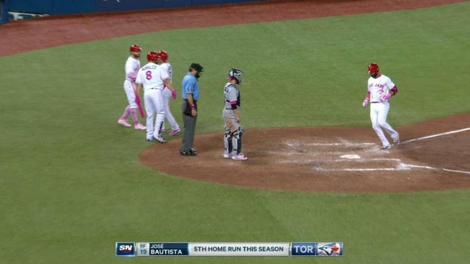 Bautista's three-run homer