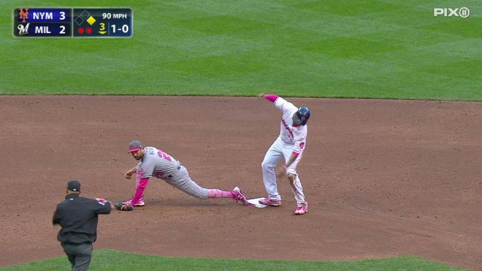 Cabrera's great backhanded grab