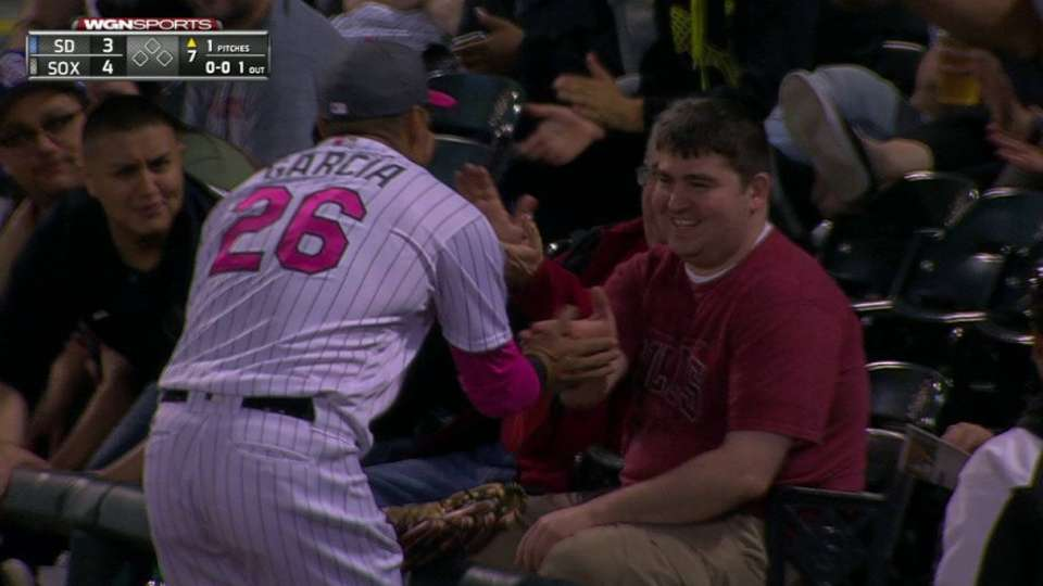 Avisail greets fan after catch