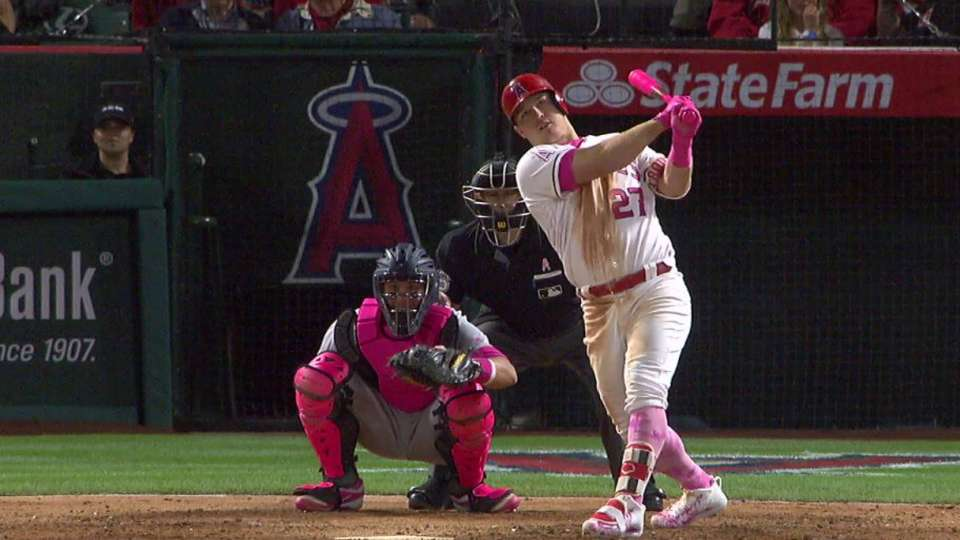 Trout's solo home run