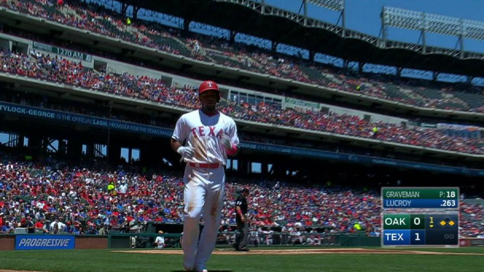 Andrus scores on double play