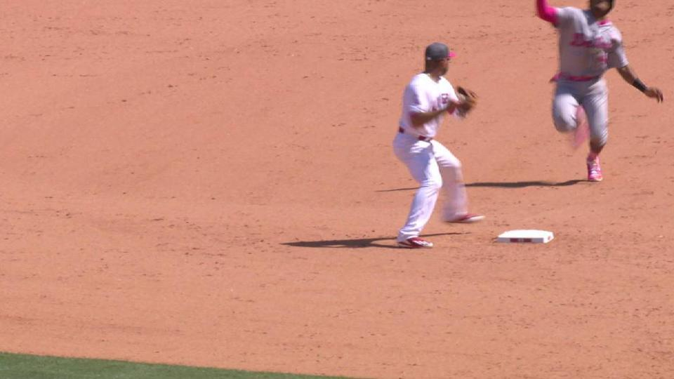 Simmons starts a double play