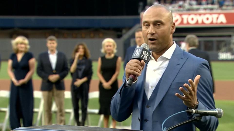 Yankees retire Jeter's No. 2