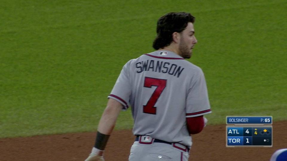 Swanson's RBI single to right