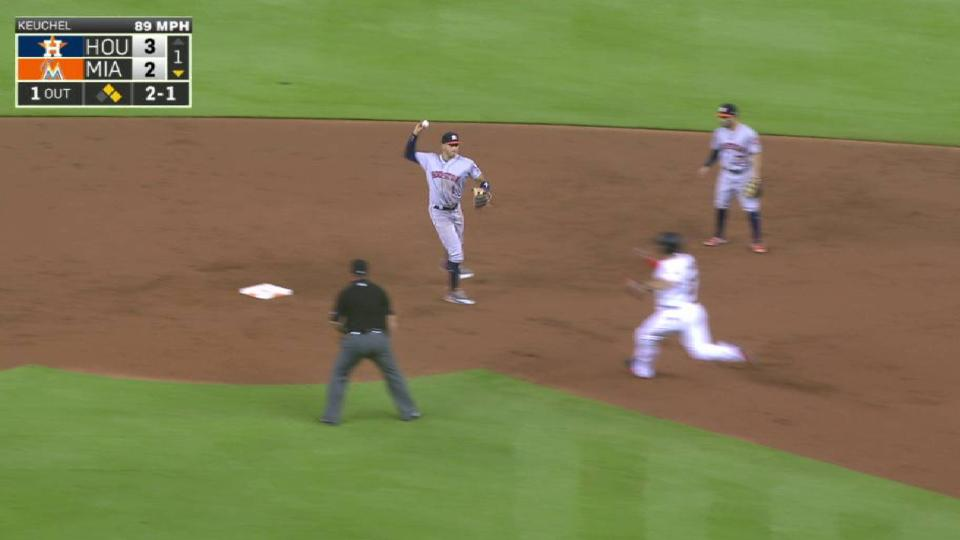 Altuve starts a nice double play