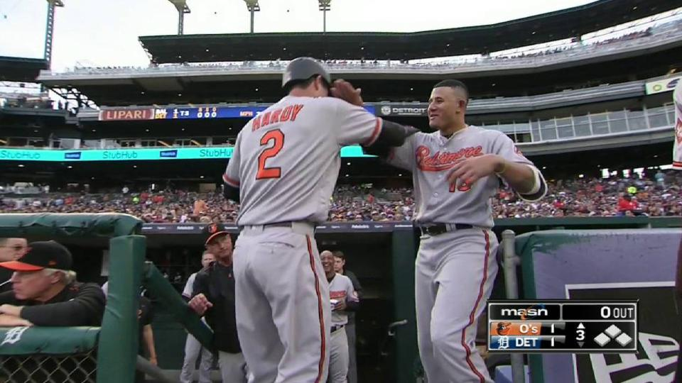 Hardy's towering solo homer