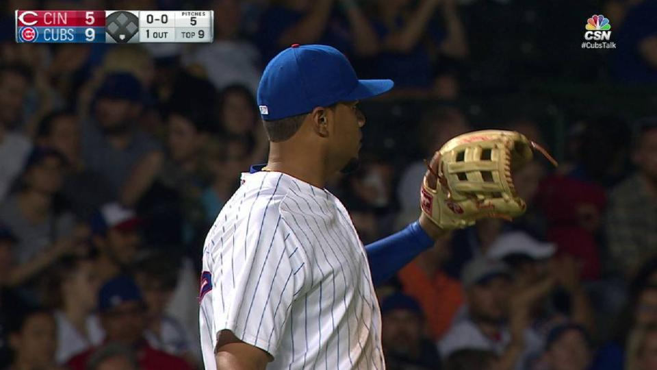 Candelario's backhanded stop