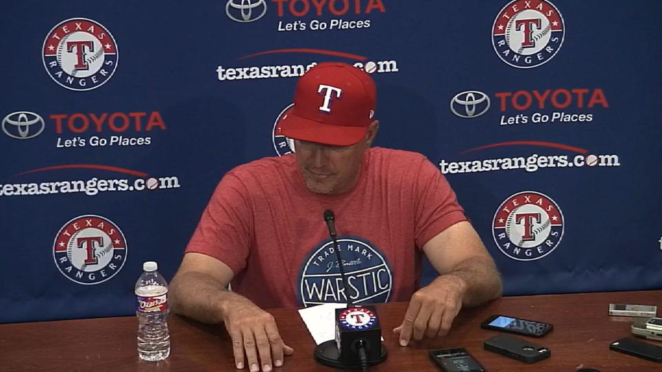 Banister talks win over Phillies